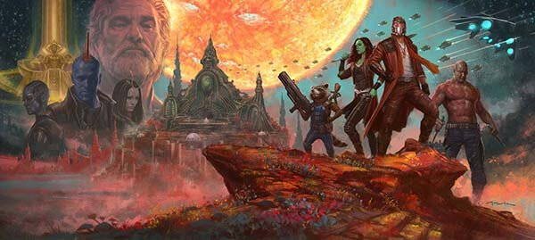 Guardians of the Galaxy art by illustrator and concept artist, Andy Park
