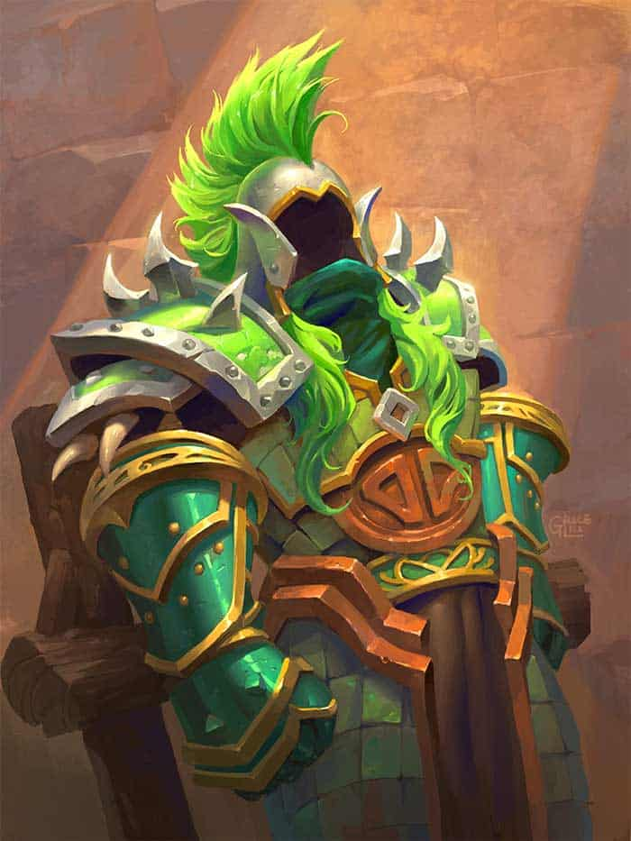 Green knight concept and character design