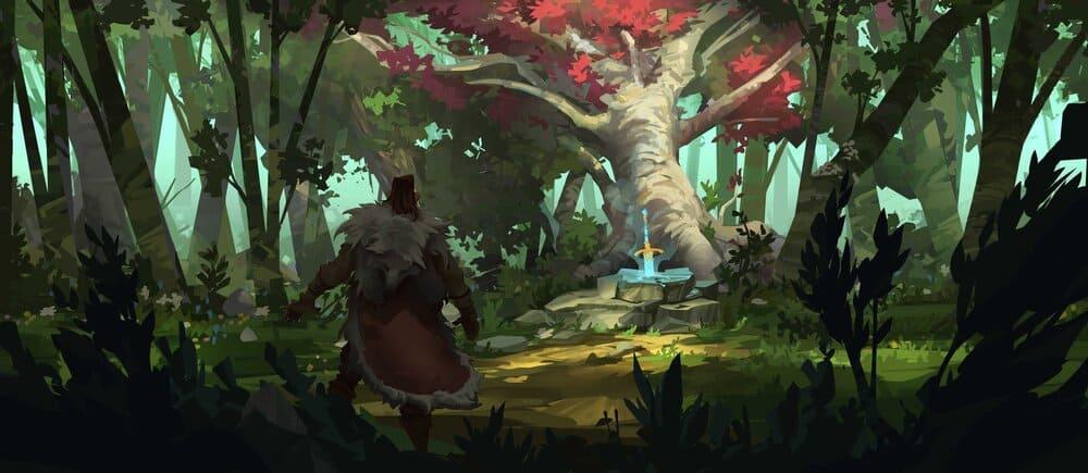 Worldbuilding of fantasy environment by Hue Teodor.