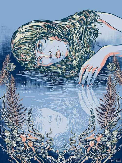 Drawing of woman of water