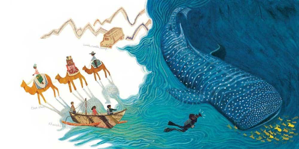 Children's book illustration drawing by Jenny Sue Kostekcki-Shaw