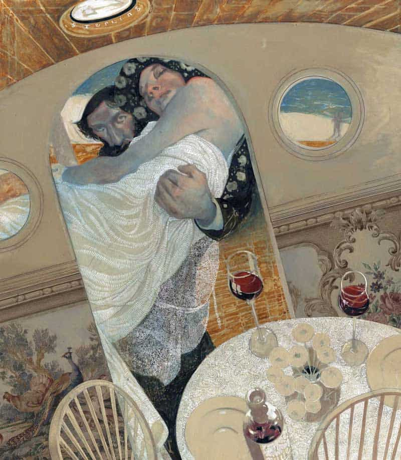 Sterling Hundley abstract painting illustration