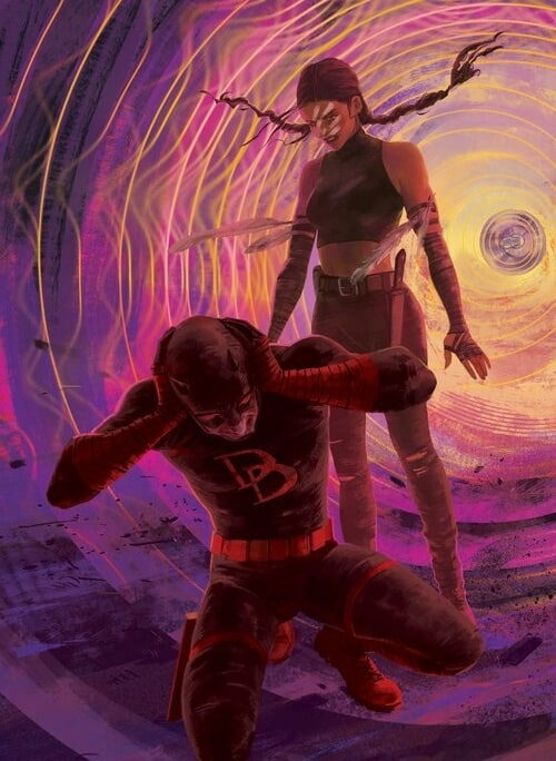 Daredevil covering his ears for DC Comics by Vanesa R. Del Rey