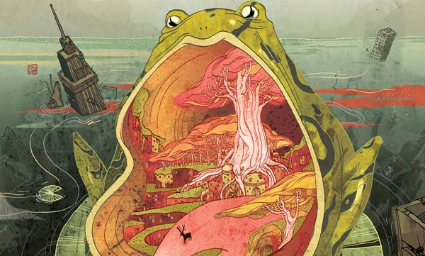 Illustration of a surreal frog by artist and designer, Victo Ngai