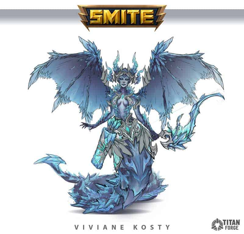 Winged character design for Smite.