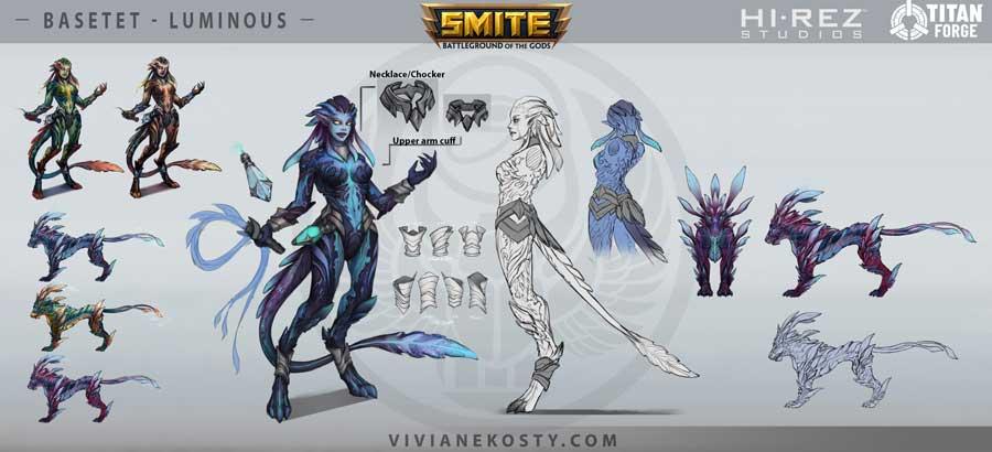 Fantasy creature breakdown design