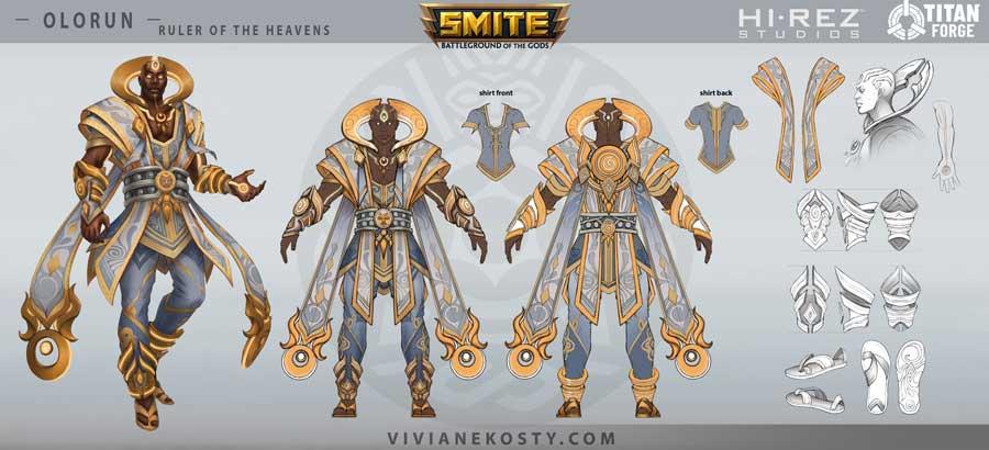 Fantasy character design breakdown