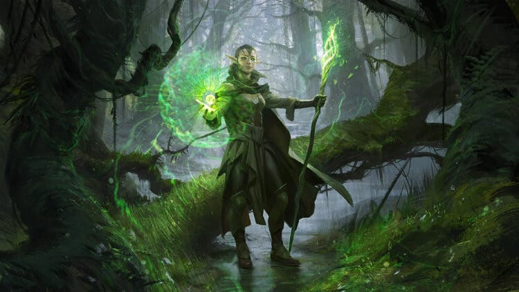 Concept artist, Wesley Burt fantasy character for Magic the Gathering