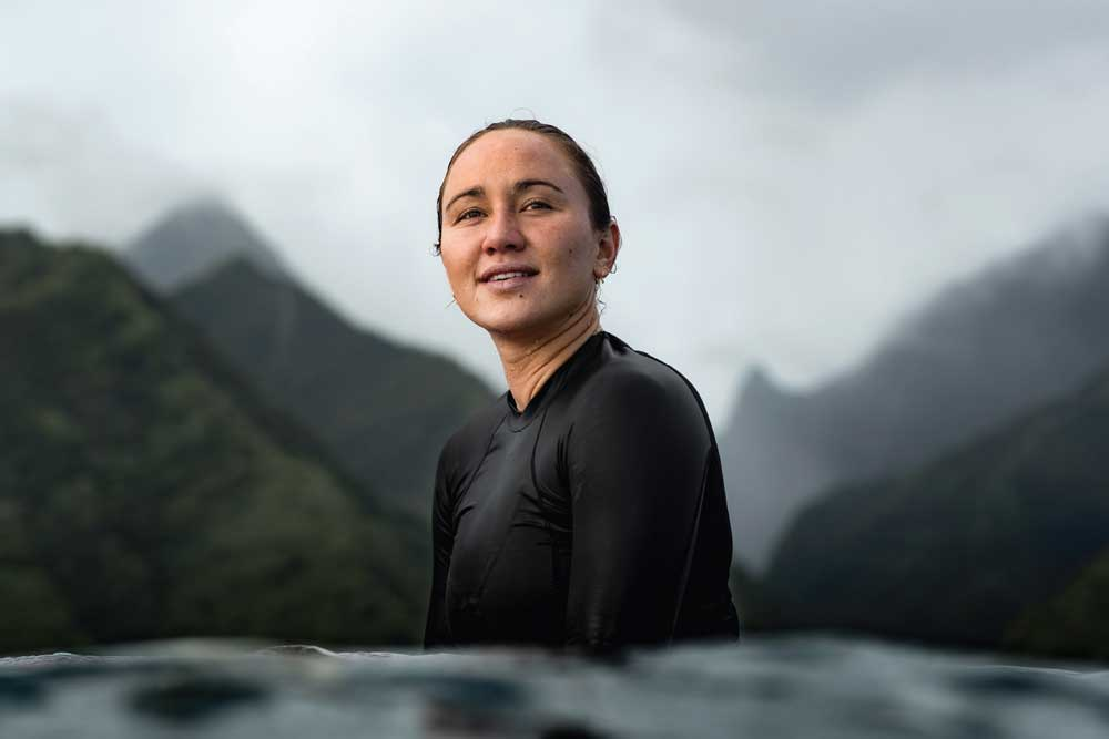 Portrait of Carissa Moore olympic surfer