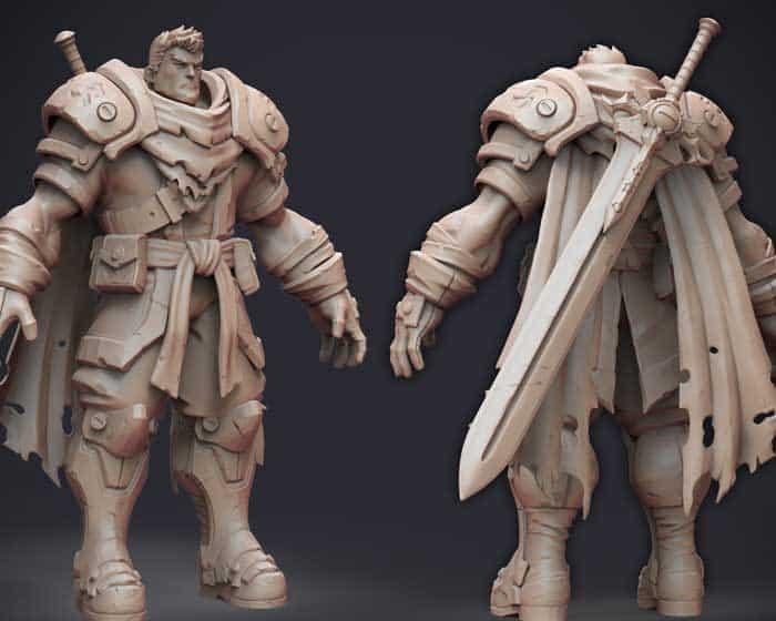 Battlechaser character sculpt for game