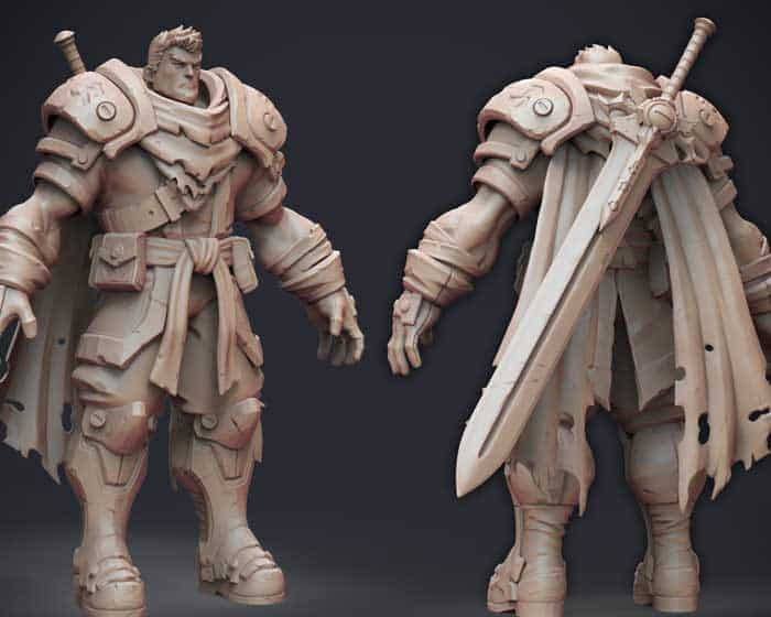 Character design concept art sculpt by Miles Wadsworth