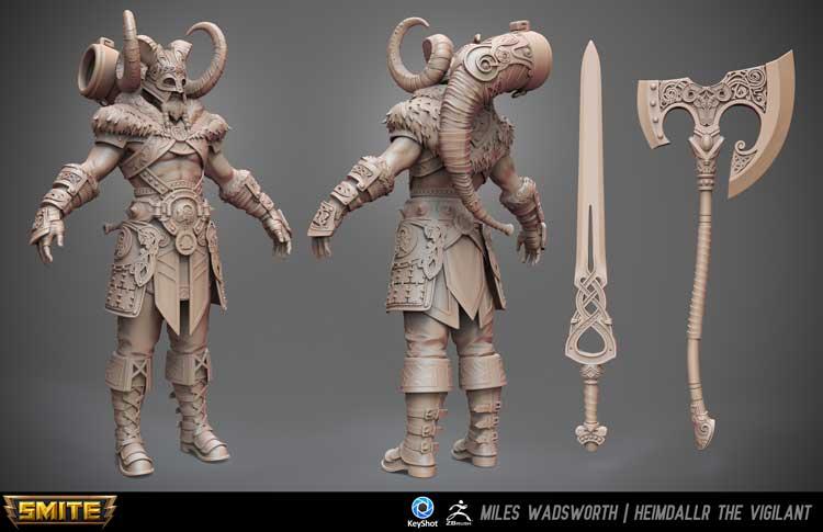 Character design concept art sculpt