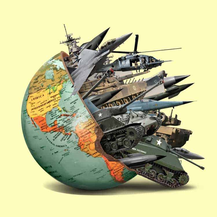 Military industrial complex art