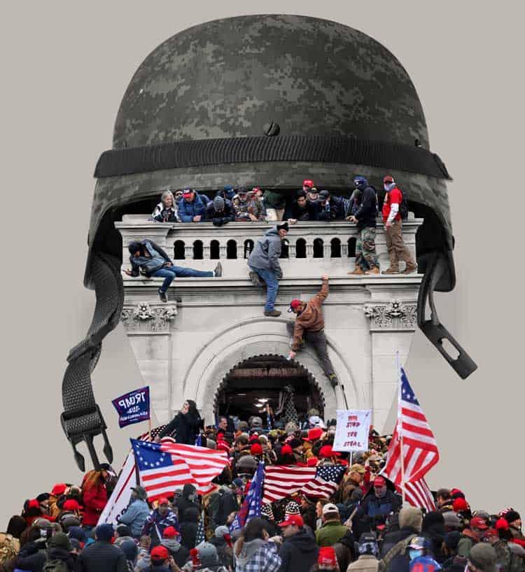 The capital riots digital art