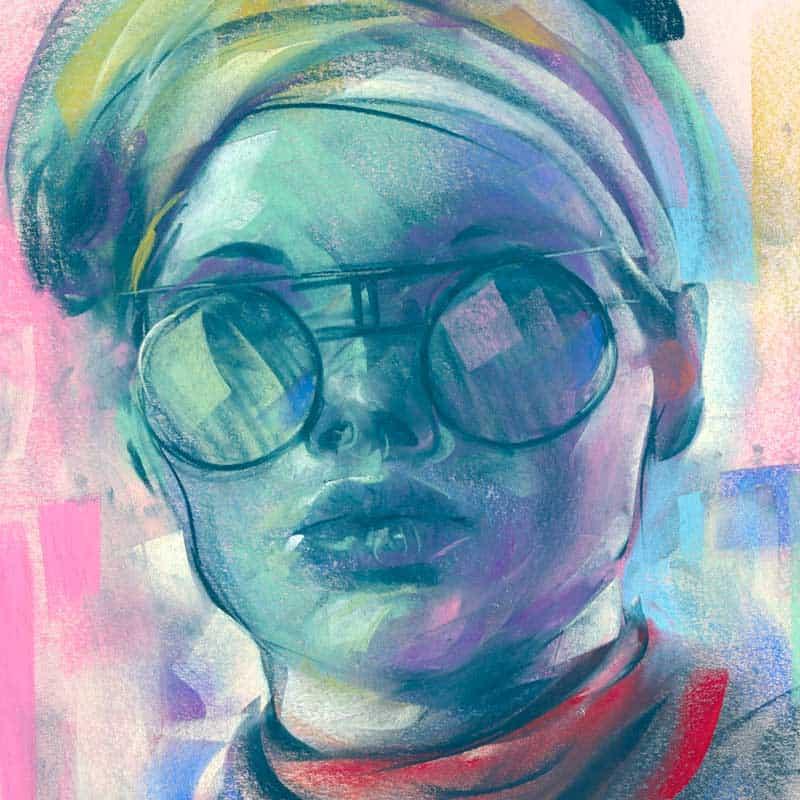 Pastel drawing by illustrator artist, Ashly Lovett