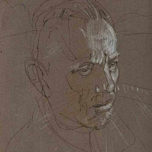 Bill Koeb illustration of man