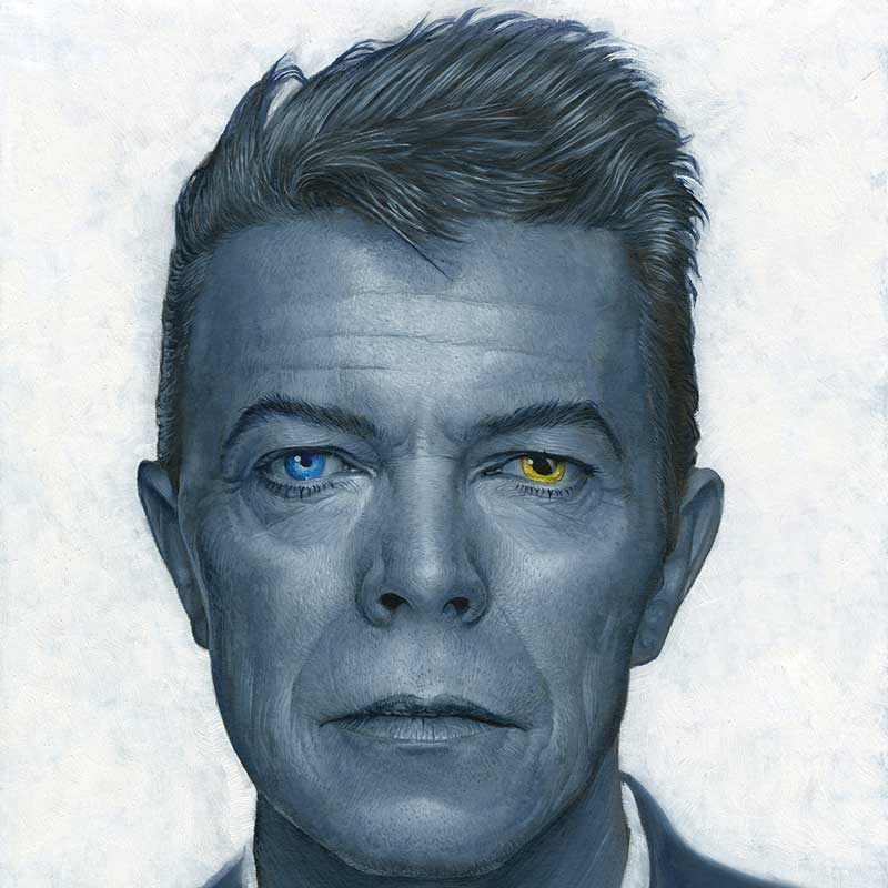 david bowie illustration painting portrait by artist Dale Stephanos