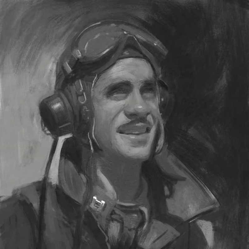digital illustration of tuskegee airmen by Raymond Bonilla