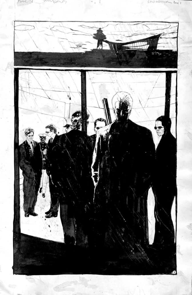 Single frame from a Bill Koeb comic book.